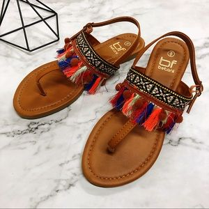 Indian Style Vintage Women's Sandals Gum Ball New